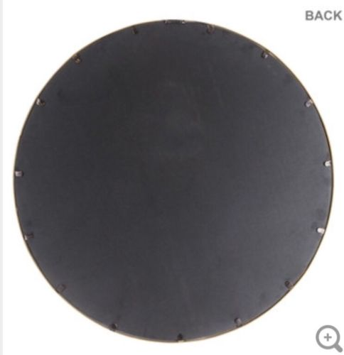 Buy Best XXL  Round Gold Metal Wall Mirror  Huge Piece Modern Glam Home Decor