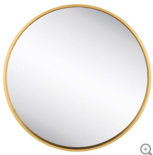 XXL  Round Gold Metal Wall Mirror  Huge Piece Modern Glam Home Decor