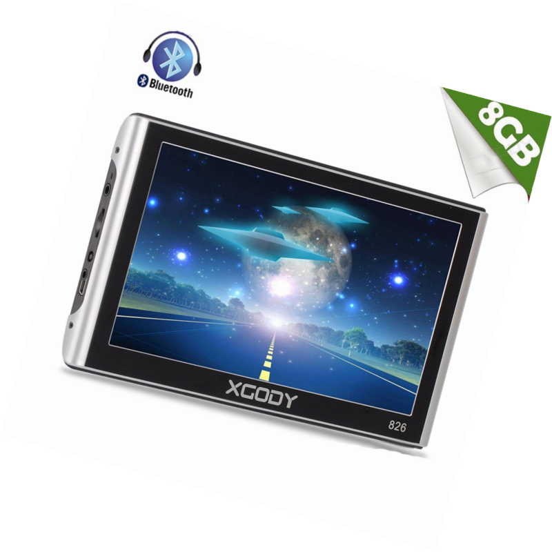 Xgody Truckers GPS 826 with Sun Shade Capacitive Touchscreen 256RAM 8GB ROM 7 In