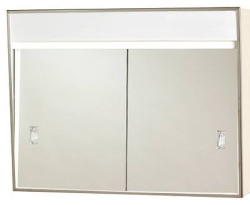 Zenith 701L Sliding Door Medicine Cabinet w/ Built In Incandescent Light