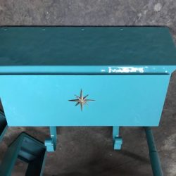 Buy Best vintage turquoise mailbox midcentury hammered