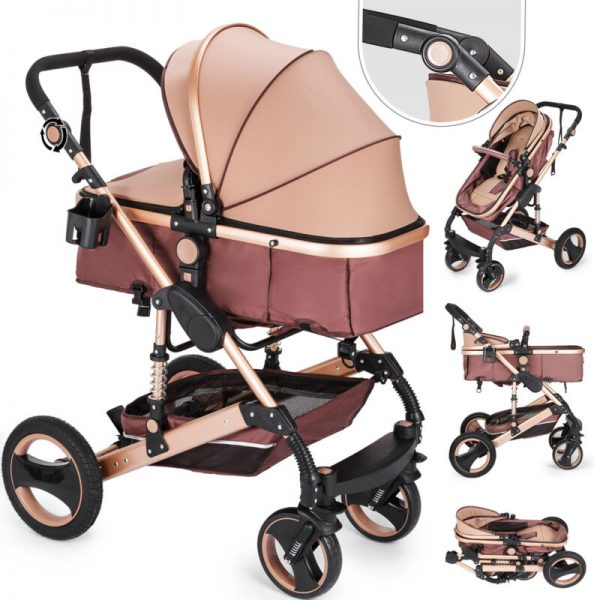 3 in 1 Luxury Baby Stroller Newborn Pram Foldable Infant Pushchair Bassinet Car