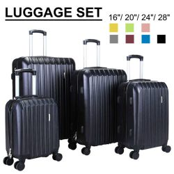 "Buy Best 3/4Pcs Travel Luggage Set Bag Trolley Spinner Suitcase ABS w/Lock 16""20""24""28"""