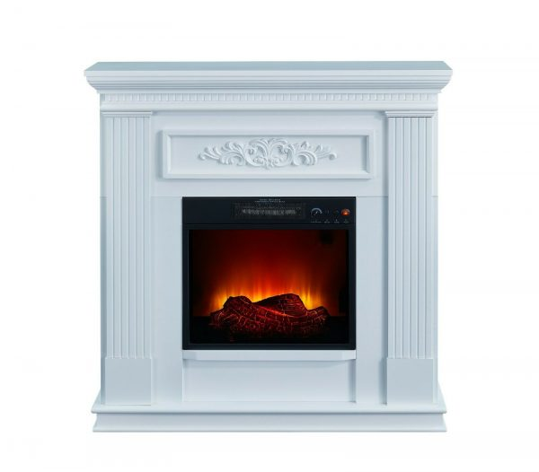 38 inch Wall Corner Electric Fireplace 120V 1,400W 4,600BTU LED Flame White New