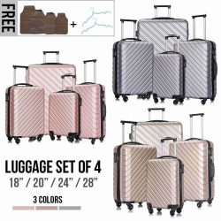 Buy Best 4 Piece Travel Luggage Set Lightweight Suitcase Spinner Hardshell Business Case