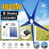 Buy Best 5 Blades 4800W Max Power Wind Turbines Generator DC12/24/48V Charge Controller