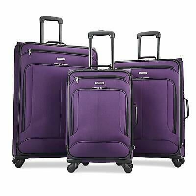 American Tourister Pop Max 3 Piece Luggage Spinner Set - 29/25/21(Purple)
