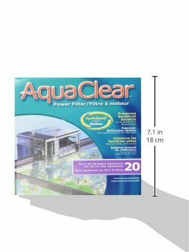 Aqua Clear - Fish Tank Filter- FOR VARIOUS TANK CAPACITIES- FREE SHIPPING