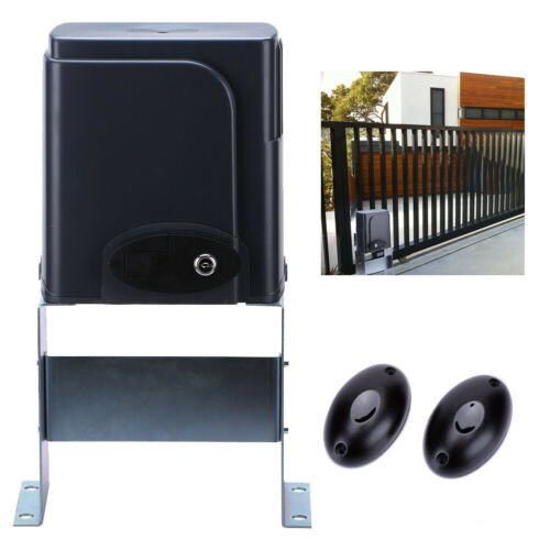 Automatic Sliding Gate Opener Kit with Photocell Sensor Chain Driveway AC motor