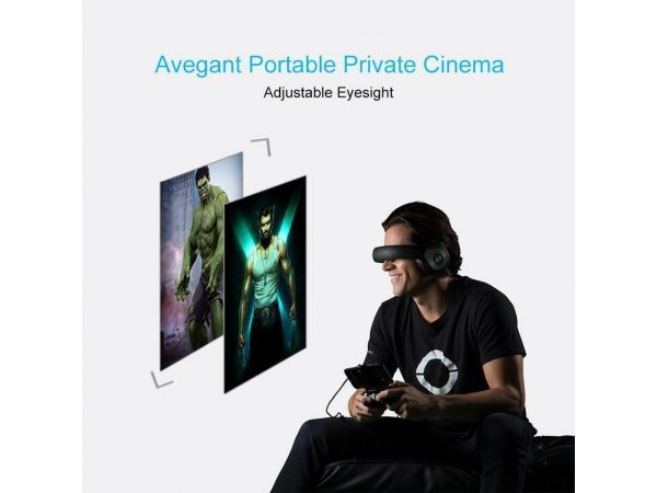 Avegant Black Virtual Reality Glyph VR Headset 3D Mobile Theater International