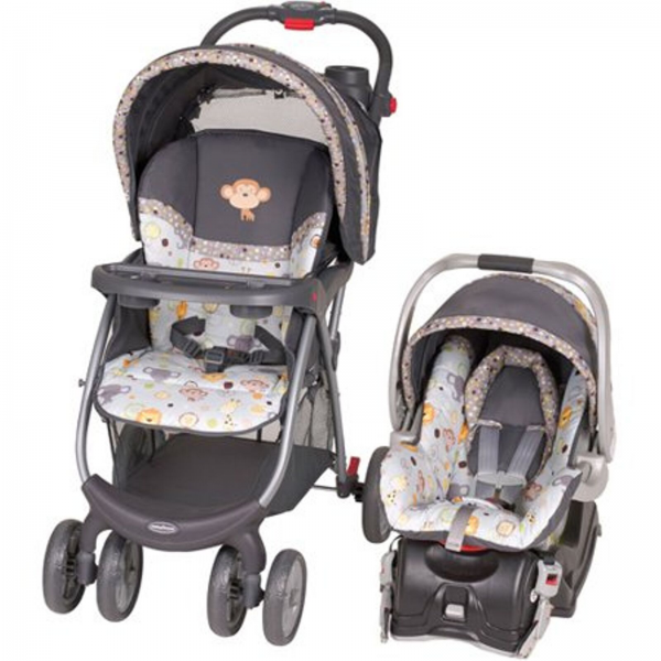 BABY TREND ENVY Travel System Car Seat Infant Carriage Foldable Bobbleheads