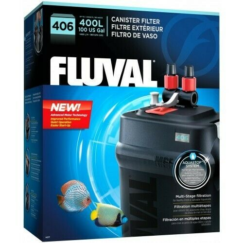 BRAND NEW Fluval 406 External Canister Aquarium Filter Up To 100 Gall. FREE SHIP