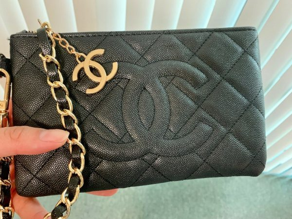 CHANEL Vip Gift Wristlet Bag / Hand Bag BNIB Authentic