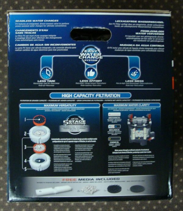 Fluval FX4 High Performance Canister Filter, Up to 250 Gal. / 700 GPH NEW IN BOX