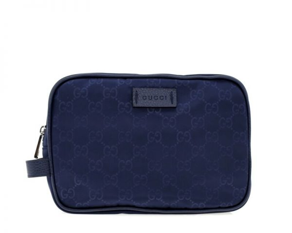 Buy Best Gucci GG Toiletry Cosmetic Travel Bag Blue Nylon New