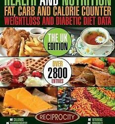 Buy Best Health & Nutrition Fat, Carb & Calorie Counter, Weight Loss & Diabetic Diet D...