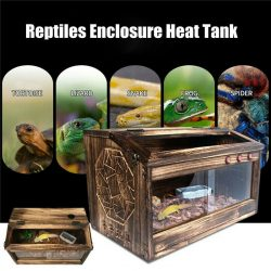 Large Reptiles Enclosure Heat Cage Lizard Frog Pet House Snake Turtle Crab Tank