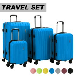 Buy Best Luggage Travel Set Bag ABS Trolley 360° Spinner Carry On Suitcase with Lock
