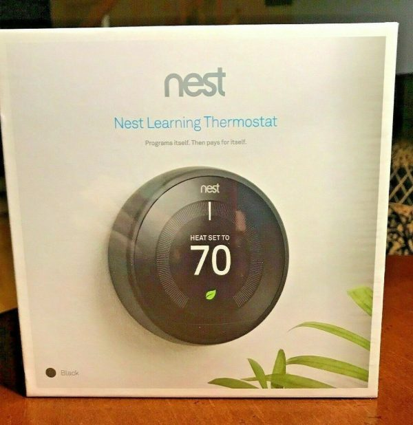 Nest 3rd Generation Learning Black Programmable Thermostat NEW SEALED T3016US