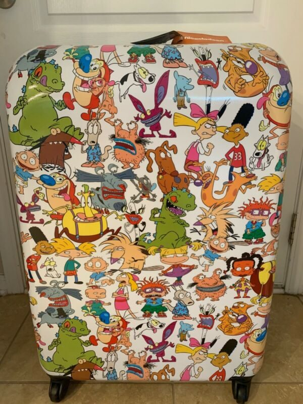 New American Tourister Nickelodeon 28 Inch Spinner 90s Mash Up Hardside Luggage