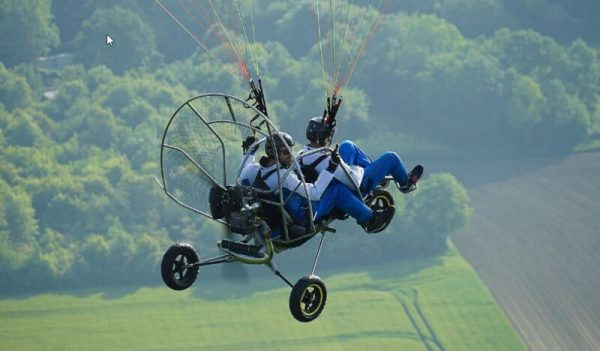 Powered Paragliding wheel Launch Training. Midwest Training Center