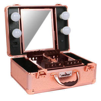 Professional Large Makeup Box Vanity Train Carrying Case Travel Cosmetic Storage