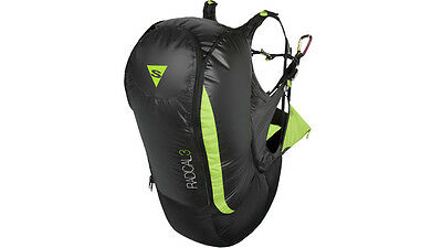 Sup'Air Radical 3 Harness S/M with Back Pro for Paragliding, Kiting a Paraglider
