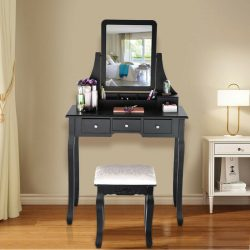 Buy Best Vanity Dressing table With Mirror & Cushioned Stool Dressing Table Vanity Makeup