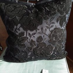$355 RALPH LAUREN ANNISON DECORATIVE SILK ROSES EMBROIDERED PILLOW FRENCH KNOT