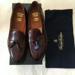 $718 Alden for Brooks Brothers Shell Cordovan 9 1/2 D Men's New Tassel  Shoes
