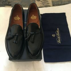 Alden for Brooks Brother Men's Loafers Shoes Size 9 D  Black & Tassel  New & BOX