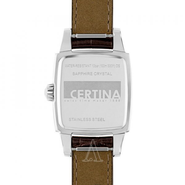 Certina DS Women's Stainless Steel w Brown Face & Brown Leather Band