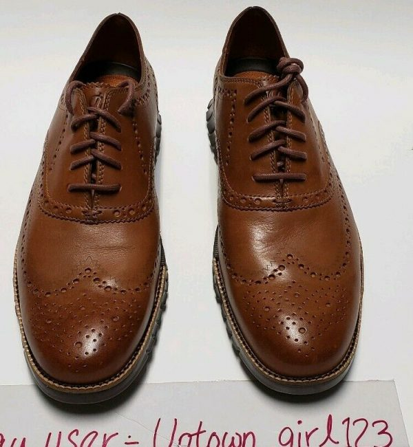 Cole Haan ZEROGRAND WINGTIP British Tan Men's Oxfords Leather C29411