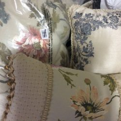 Croscill Daphne 3  Decorative Pillow Ivory Floral, and  embroidered