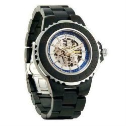 Genuine Automatic Ebony Wooden Watches No Battery Needed