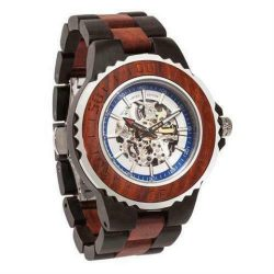 Genuine Automatic Rose Ebony Wooden Watches No Battery Needed
