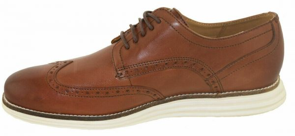 New COLE HAAN Mens Original Grand Brown Leather Wingtip Oxford Shoes C26471