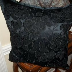 New Ralph Lauren Annison Black Embroidered 20x20 Decorative Bed Pillow $355