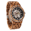 Premium Self-Winding Transparent Body Zebra Wood Watches
