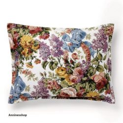 Buy Best Ralph Lauren Allison Floral Sateen Boudoir Pillow cotton Decorative Archival Nwt