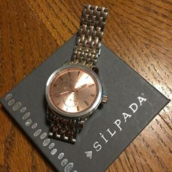 """SILPADA AT FIRST BLUSH WATCH T3369 ADJUSTABLE 5-7.5"""" STAINLESS STEEL NWT DRN"""
