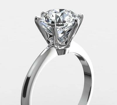 1.25 CARAT ROUND CUT D/SI1 DIAMOND SOLITAIRE ENGAGEMENT RING 14K WHITE GOLD
