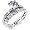 Buy Best 2.00 Ct Round Cut Engagement Wedding Ring Set Real 14K White Gold Matching Band