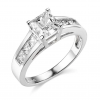 Buy Best 2.5 Ct Princess Cut Engagement Wedding Ring Channel Setting Solid 14K White Gold
