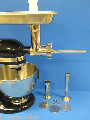 STAINLESS STEEL Metal Meat Grinder for KitchenAid Mixer Artisan Professional