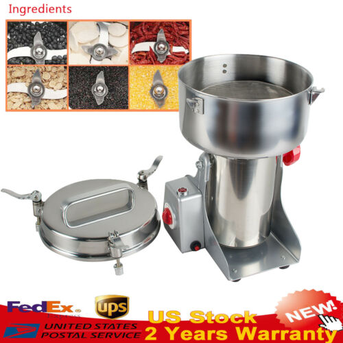 US Stock Automatic continuous Hammer Mill Herb Grinder,pulverizer machine 110V