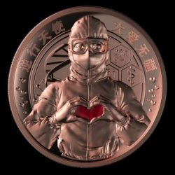 CHINA 2020 Fight to COVID Virus Bronze Medal Token