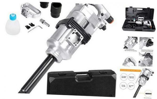 "1"" Air Impact Wrench Gun Heavy Duty Pneumatic Tool Long Shank Commercial Truck"