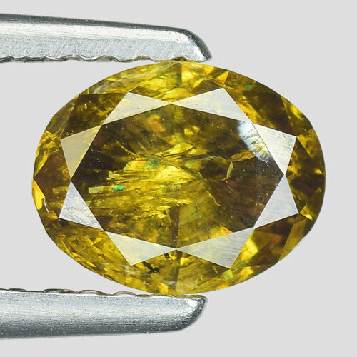 "Buy Best 1.01cts Olive Green Oval Natural Loose Diamond ""SEE VIDEO"""