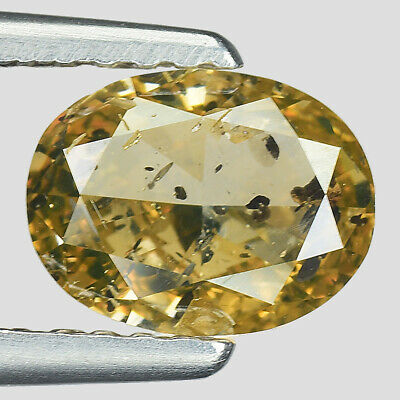 """Buy Best 1.02cts Yellowish Brown Oval Natural Loose Diamond """"SEE VIDEO"""""""